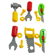 Play House Toy Set Toolbox Combination 8 Piece Set Plastic Simulation Repair Tool Stall Toy