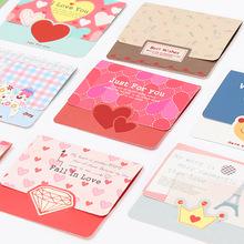 韩版可爱迷你清新小卡片 卡通小贺卡 迷你中秋节日通用祝福卡S656
