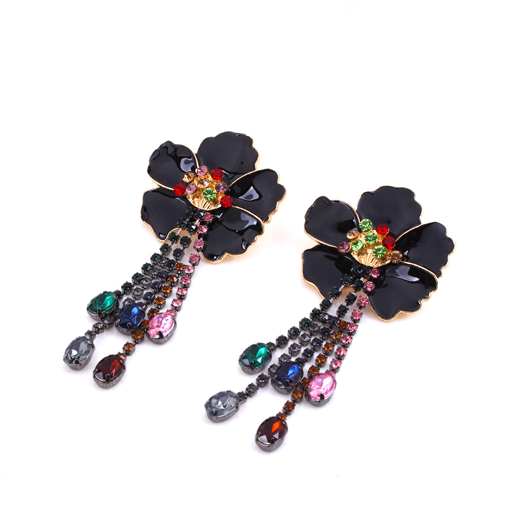 Alloy Fashion Flowers earring  (white) NHNMD4491-white
