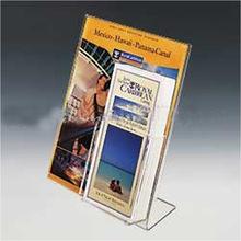 带盒子亚克力广告牌 有机玻璃海报牌 口袋立牌L型桌牌 定做加工