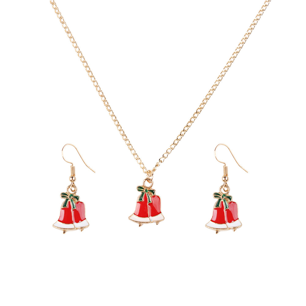 Alloy Fashion Geometric necklace(Christmas tree) NHNMD4849-Christmas-tree