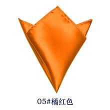 真丝小方巾纯色女丝巾100桑蚕丝围巾素色口袋巾团购加印定制logo