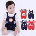 春秋夏季婴幼儿童服装男女宝宝背带裤套装跨境童两件套装婴儿衣服