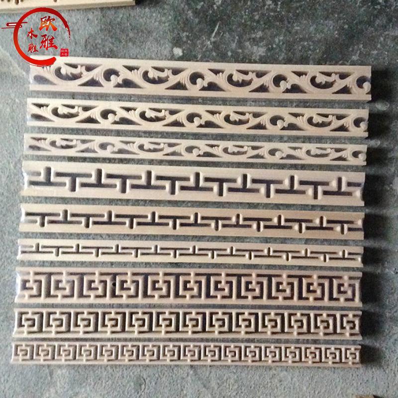 實木線條木雕工藝品裝飾 中式仿古吊頂裝修配件木質家具裝飾建材