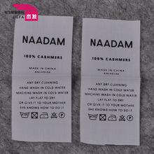 男裝女裝洗水標定做 滌棉純棉洗標 專業絲網印刷 免費提供樣品