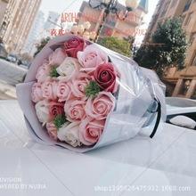 厂家批发母亲节礼物生日创意礼品手捧花玫瑰小花束香皂花