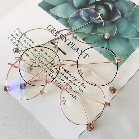 Vòng kim loại kính cá tính khung thời trang lớn hộp gương phẳng hạt nam và nữ xu hướng kính