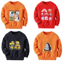 Autumn and winter children's cotton cartoon sweater long sleeves boys and girls autumn outfits children's bottoming shirt