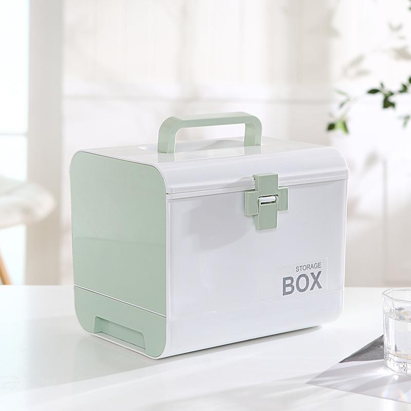 家用医药箱急救医疗收纳盒多功能多层分格塑料保健箱车载小药箱
