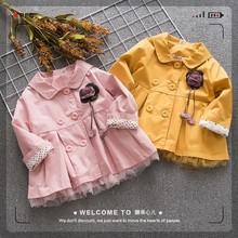 秋季新品童装水洗棉女童外套 韩版小童宝宝翻领上衣 花朵童外套潮