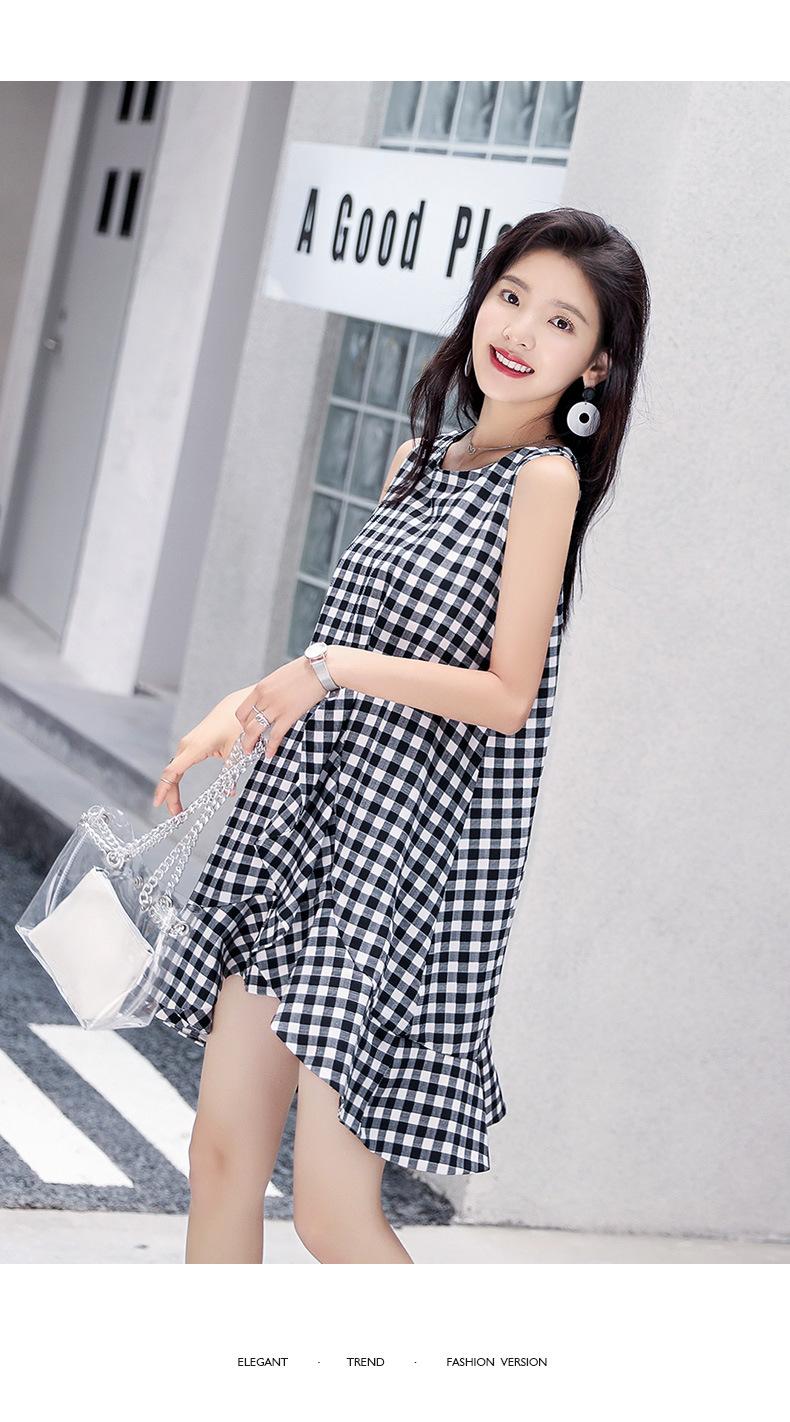 2018年夏季连衣裙优雅可爱清新修身显瘦简约潮流
