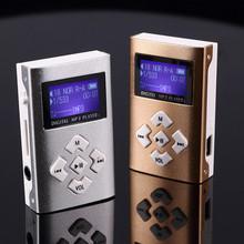 新款二代有屏插卡MP3金屬鋁殼運動mp3迷你隨身聽播放器可定制LOGO