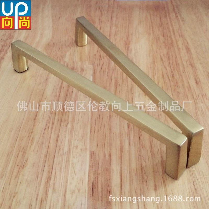 广东佛山工厂直销长条锌合金仿金色橱柜浴室柜拉手UP-4011