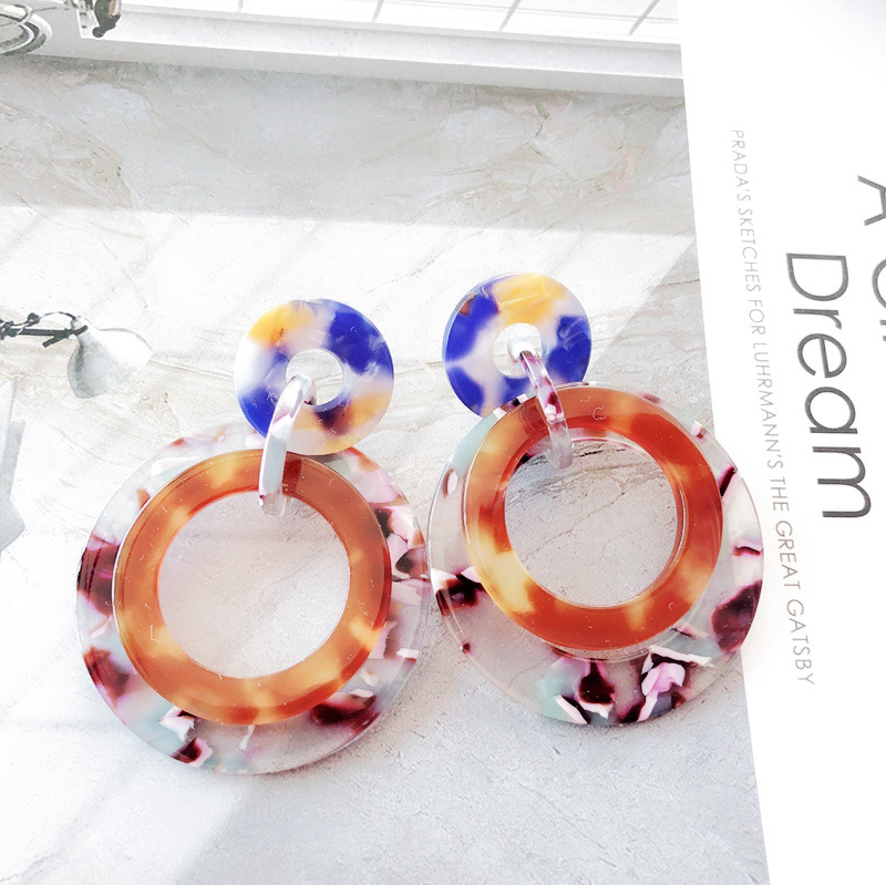 Alloy Fashion  earring  (Photo Color) NHOM1113-Photo-Color