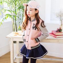2019春秋新款童女童套装儿童棒球服韩国休闲套装韩版童装运动套装