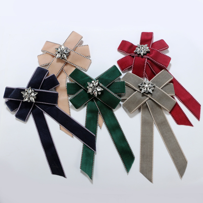 Vintage Clothbrooch Bows (red)NHGY1686-red