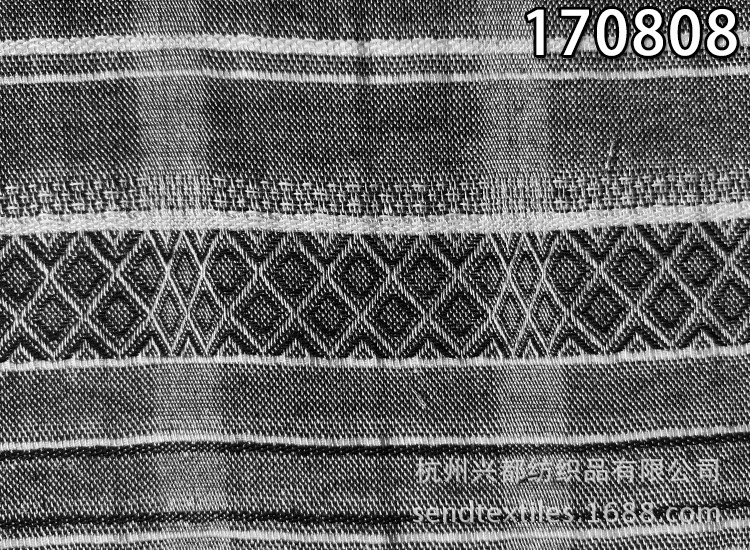 170808纯天丝色织黑色2