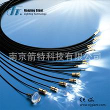 【厂家供应】照明工程?#20184;?#20135;品5MM塑料光纤光缆 7mmPVC黑色护套