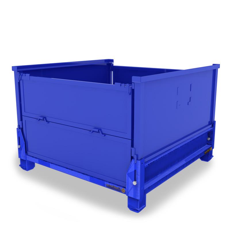 金属仓储蝴蝶笼网格箱可折叠流转周转铁框不锈钢货箱物料箱