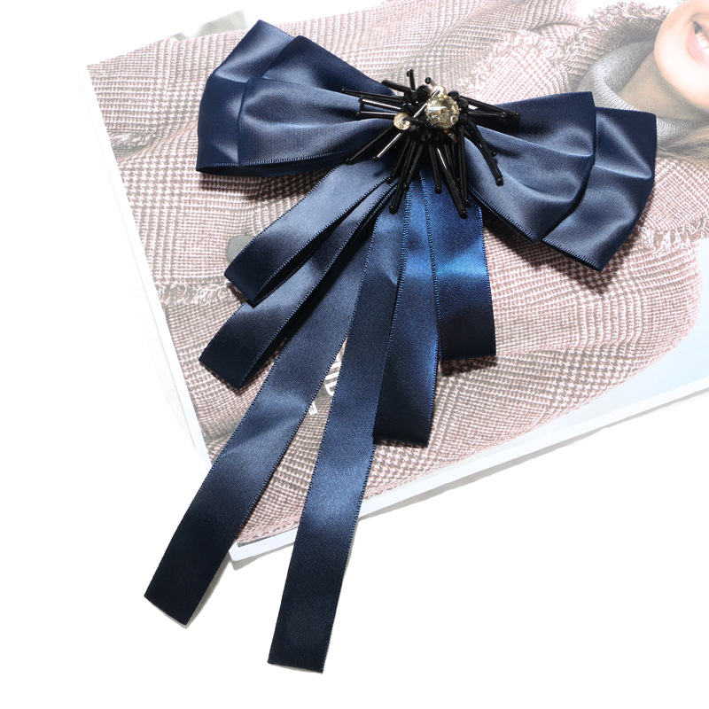 Cloth Vintage Bows brooch(blue) NHGY1712-blue