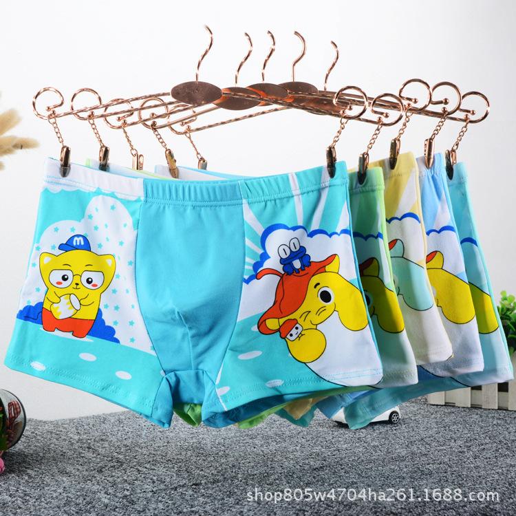 厂家直销儿童裤衩卡通印花内裤男童女童平角裤小孩面包裤短裤底裤