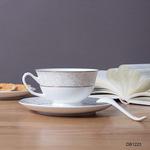 白色金边陶瓷咖啡杯套装定制logo欧式咖啡杯碟英式下午茶茶具礼品
