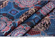 格子花織錦緞布料貢緞絲綢料坐墊布料仿古旗袍布料演出服古裝時裝