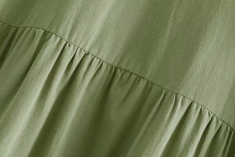 Cotton Fashionskirt(Army Green - L) NHAM4464-Army-Green-L