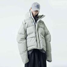 harsh and cruel 18fw 防风高领高填充保暖性能廓形面包羽绒棉服