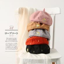 厂家货源2018新款可爱卡通刺绣帽子女士春秋季韩版小女孩画家帽子