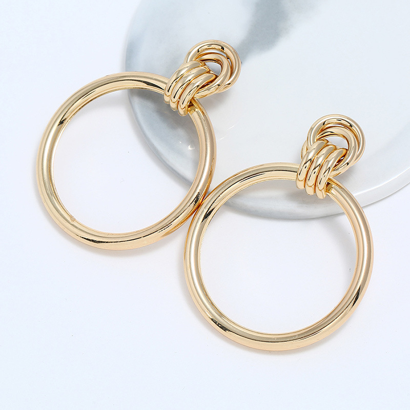 Alloy Fashion Geometric earring  (KC Alloy) NHNZ1065-KC-Alloy