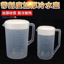 厂家直销塑料冷水壶 奶茶壶 扎壶 豆浆啤酒杯 PP透明凉水杯5000ml