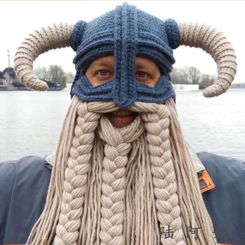加工定制纯手工钩织毛线头套帽子 可爱个性搞怪异型帽情侣帽