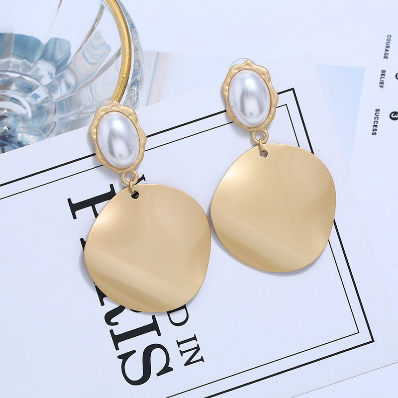 Alloy Fashion Geometric earring  (yellow) NHVA5375-yellow