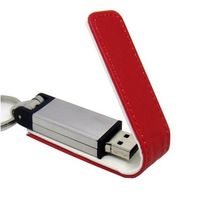 皮套商務鑰匙扣u盤 創意禮品優盤定制 usb pen drive 8G 皮革u盤