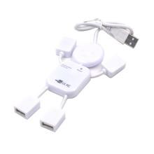 人形usb分线器 集线器 4口USB插座 广告促销礼品一拖四