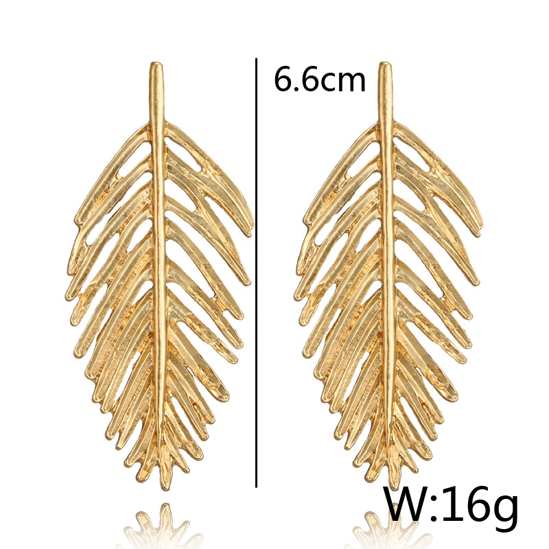 Alloy Vintage Geometric earring(Gold) NHGY1053-Gold