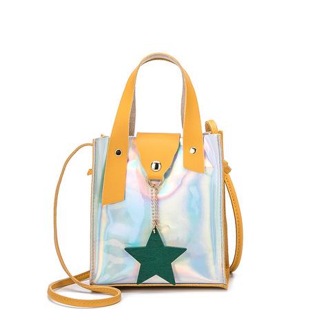 Túi xách nữ 2019 ngôi sao laser mới cá tính túi đeo vai giản dị thời trang đơn giản Túi Messenger nữ điểm