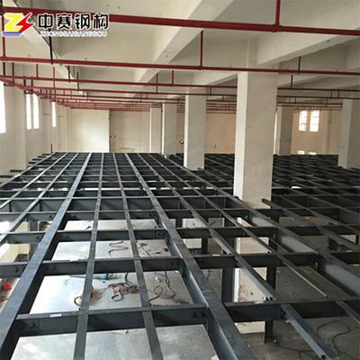设计制作室内钢结构阁楼混凝土阁楼搭建钢结构夹层仓库夹层平台