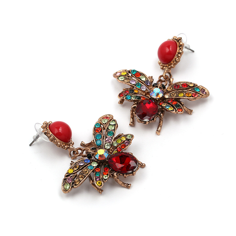 Alloy Fashion Geometric earring  (Red color) NHJJ5311-Red-color
