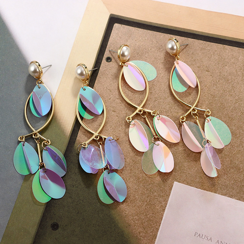 Alloy Fashion Geometric earring(purple) NHGY1735-purple