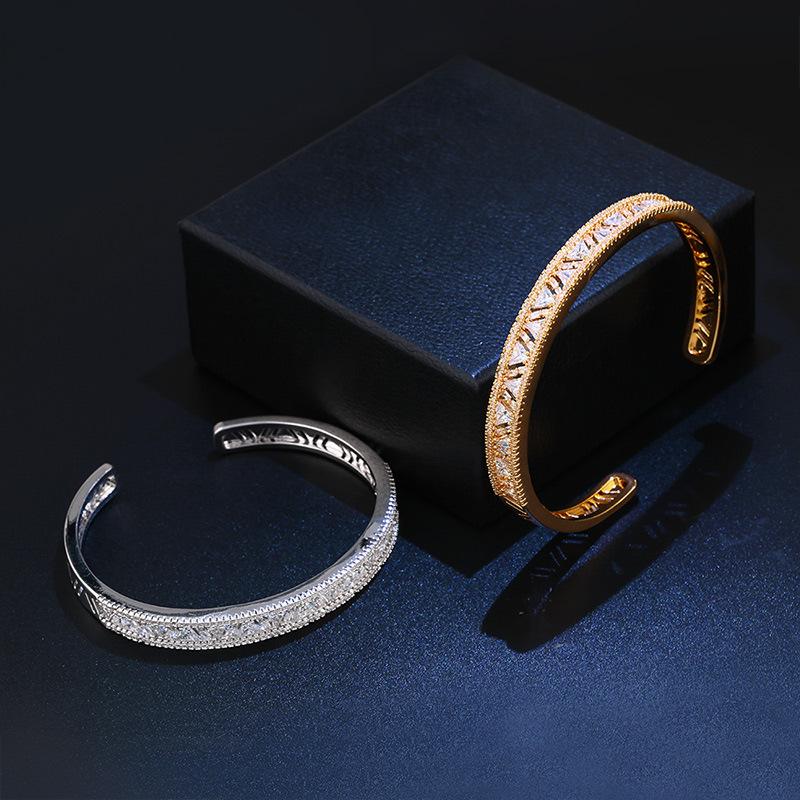 Copper Fashion Geometric bracelet  (18K alloy)  Fine Jewelry NHAS0388-18K-alloy