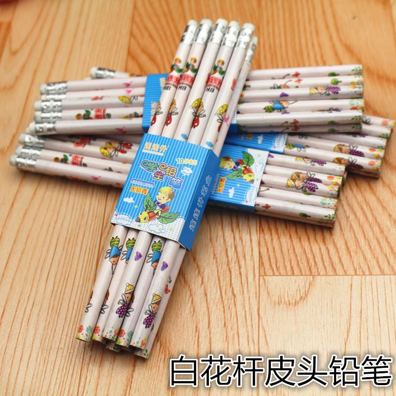 低价批发小皮头套膜 花杆铅笔 连连升小皮头铅笔 奖品铅笔赠品