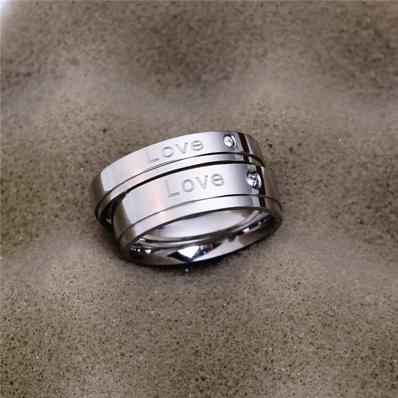 TitaniumStainless Steel Simple  Ring  4mm alloy5 NHIM14664mmalloy5