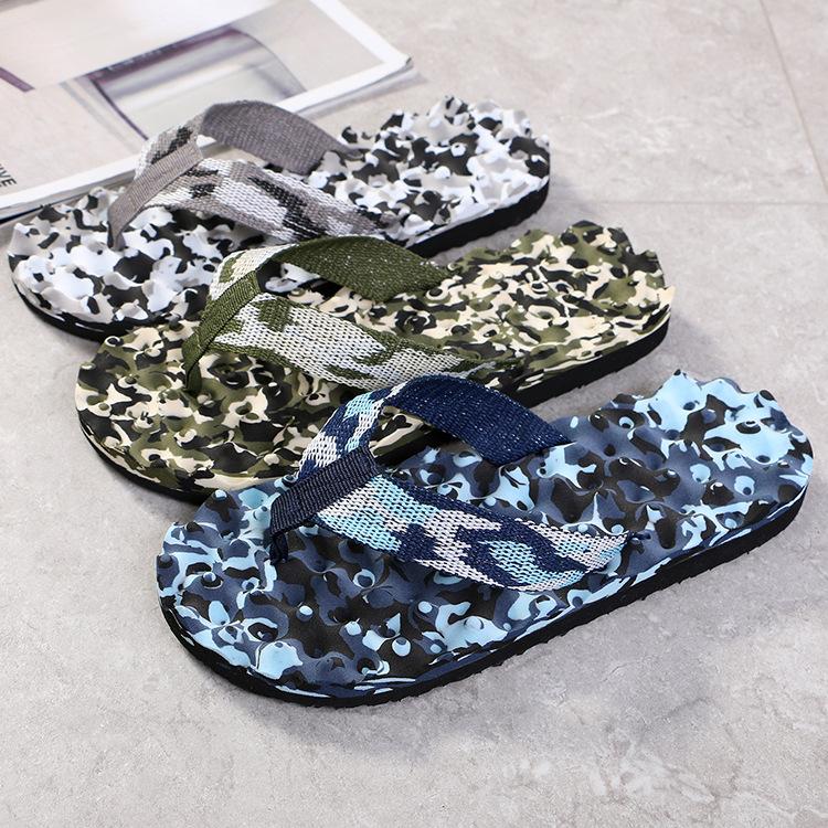 couples flip flops camouflage leisure sl...