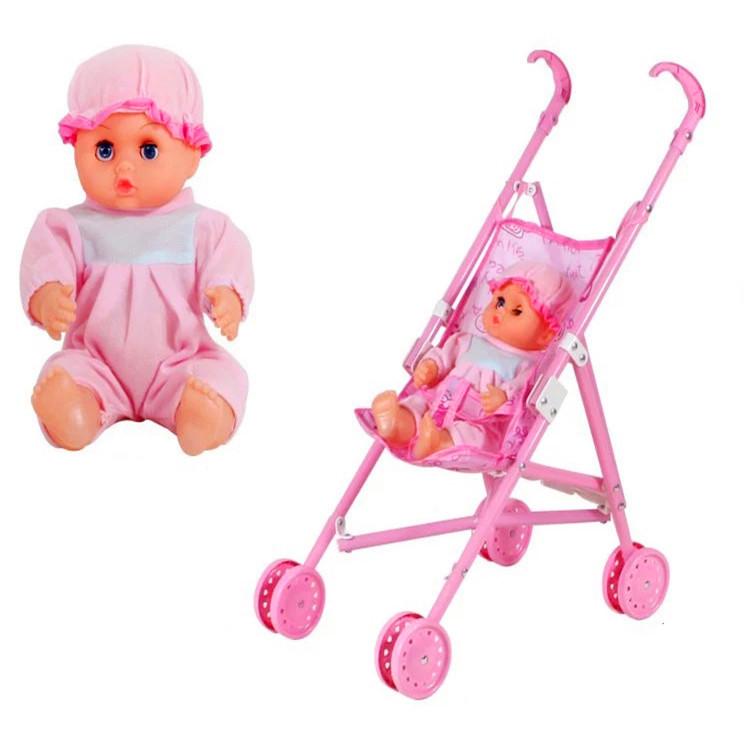 工厂批发儿童礼物混装手推车玩具 小推车婴儿 女孩过家家带娃娃