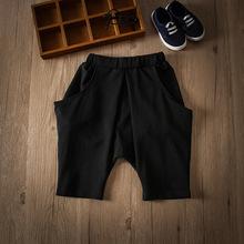 工厂直销夏季新韩版童装男童时尚简?#22841;?#38386;中大童短裤