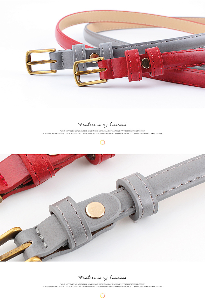 New simple retro alloy buckle fine women belt NHPO147716