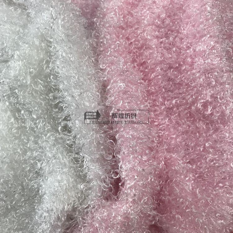 现货供应羊圈绒 卷曲绒 菊花绒 15毛高长毛绒 圈圈绒