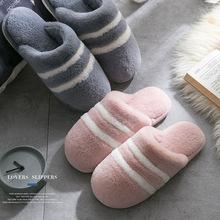 2018 mùa đông mới dép bông nữ nhà đôi bông kéo trong nhà giả thỏ lông dép nổ bông dép nhà sản xuất Dép vải